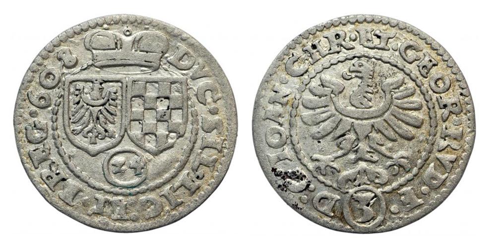 3 krajcary 1608 r. Złoty Stok