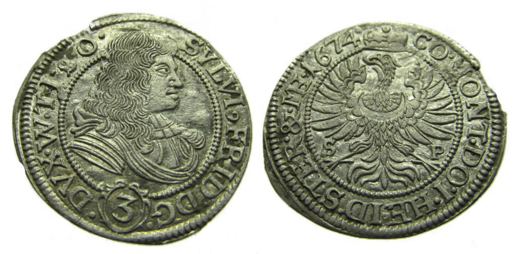 3 krajcary 1674 r.