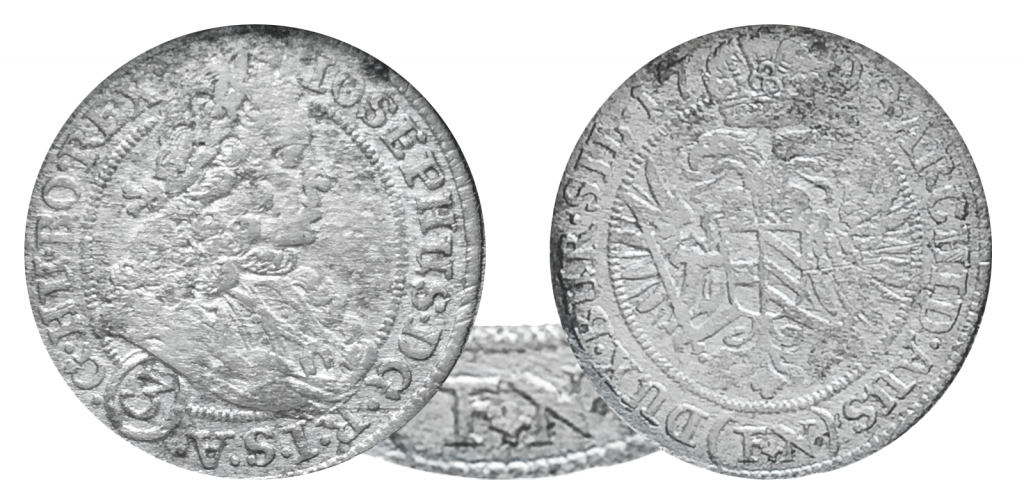 3 krajcary 1708 r.