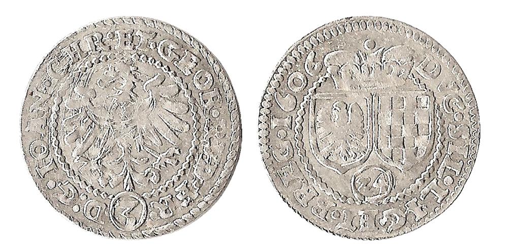 3 krajcary 1606 z pełną datą